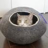 レビュー : Kivikis キャットハウス(繭型ネコベッド)
