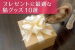 ネコも飼い主も喜ぶ! プレゼントに最適な猫グッズ10選